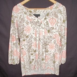 Attention Long Sleeve Floral Print Blouse L